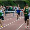 Giovanni Pieters wint de 400 M Horden bij de beloften - BK Juniors & Beloften - Julien Saelens Stadion - Brugge - West-Vlaanderen