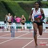 De Jamaicaanse Abigail Chelsea Lewis (CABW) wint de  400 M Horden - BK Juniors & Beloften - Julien Saelens Stadion - Brugge - West-Vlaanderen
