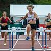 Manon Swinnen van AC Lyra wint de 400 M Horden - BK Juniors & Beloften - Julien Saelens Stadion - Brugge - West-Vlaanderen