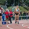 Favorieten voor de titel vlnr: Hanne Reynaert (ASV Oudenaarde), Eline Pinter (AVKA) & Lindsay Van Basselaere (AC Meetjesland) - 800 M Dames Juniors - Julien Saelens Stadion - Brugge - West-Vlaanderen