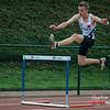 Niels Vierstraete (FLAC Izegem) op de 400 M Horden - BK Juniors & Beloften - Julien Saelens Stadion - Brugge - West-Vlaanderen