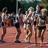 Stokwissel bij Looise AV op de 4 x 800 M dames alle categoriën - BK Aflossingen 2015 - AS Rieme Atletiekpiste - Ertvelde - Oost-Vlaanderen