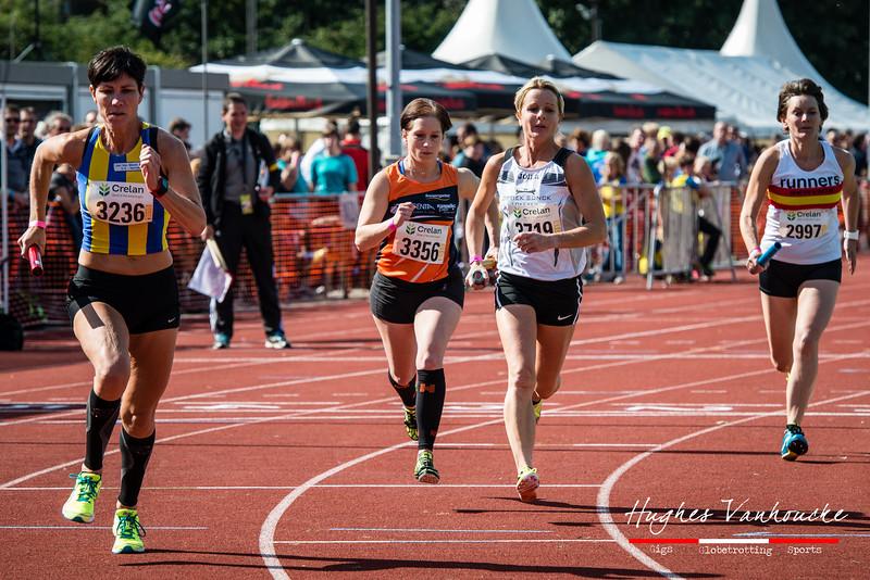 Start van de 4 x 800 masters dames - BK Aflossingen 2015 - AS Rieme Atletiekpiste - Ertvelde - Oost-Vlaanderen
