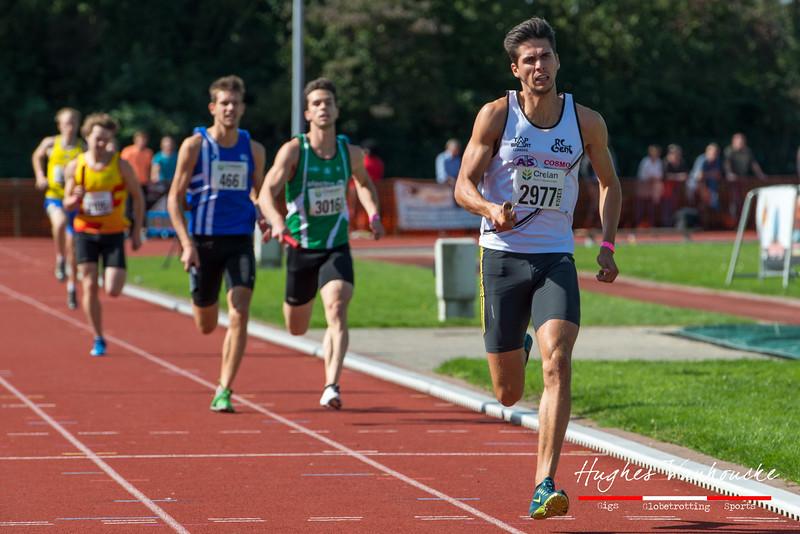 Yestin Scheldeman (RC Gent) op de 4 x 200 M - BK Aflossingen 2015 - AS Rieme Atletiekpiste - Ertvelde - Oost-Vlaanderen