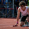 Thomas Veryser (FLAC Ieper) in de startblokken van de 4 x 200 M - BK Aflossingen 2015 - AS Rieme Atletiekpiste - Ertvelde - Oost-Vlaanderen