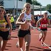 Start van de 4 x 800 M dames alle categoriën - BK Aflossingen 2015 - AS Rieme Atletiekpiste - Ertvelde - Oost-Vlaanderen
