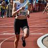 Lore Quatacker (FLAC Ieper) op de 4 x 800 M dames alle categoriën - BK Aflossingen 2015 - AS Rieme Atletiekpiste - Ertvelde - Oost-Vlaanderen