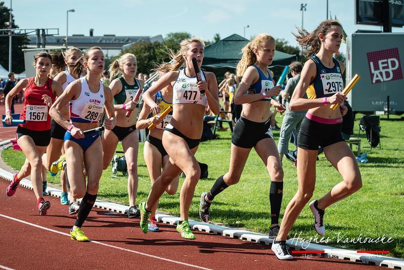4 x 800 M dames alle categoriën - BK Aflossingen 2015 - AS Rieme Atletiekpiste - Ertvelde - Oost-Vlaanderen