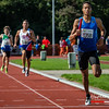Asamti Badji (Excelsior Brussel) op de 4 x 200 M - BK Aflossingen 2015 - AS Rieme Atletiekpiste - Ertvelde - Oost-Vlaanderen