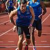Stokwissel tussen Charles Nielsen & Antoine Gillet (Excelsior Brussel) op de 4 x 200 M - BK Aflossingen 2015 - AS Rieme Atletiekpiste - Ertvelde - Oost-Vlaanderen