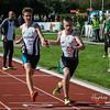 Stokwissel tussen FLAC ateleten Tim Depickere & Robbe Vanhoof op de 4 x 200 M - BK Aflossingen 2015 - AS Rieme Atletiekpiste - Ertvelde - Oost-Vlaanderen