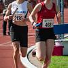 Lore Quatacker (FLAC Ieper) & Marieke De Bruyn (AV Oudenaarde) op de 4 x 800 M dames alle categoriën - BK Aflossingen 2015 - AS Rieme Atletiekpiste - Ertvelde - Oost-Vlaanderen