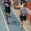 Winst voor Mathias Sanctorum uit Rumbeke - 400 M - Belgisch Kampioenschap Indoor Atletiek - BLOSO Topsporthal - Gent