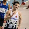 Mathias Sanctorum van FLAC - 400 M - Belgisch Kampioenschap Indoor Atletiek - BLOSO Topsporthal - Gent