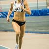 Renée Eykens op kop halfweg de wedstrijd - 800 M dames juniors - Belgisch Kampioenschap Indoor Atletiek - BLOSO Topsporthal - Gent