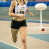 Lotte Scheldeman is halfweg wedstrijd nog steeds tweede - 800 M dames juniors - Belgisch Kampioenschap Indoor Atletiek - BLOSO Topsporthal - Gent