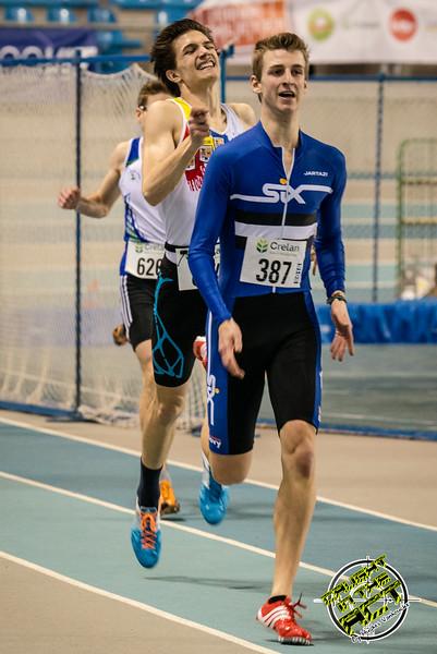 Belgisch kampioen Alexander Doom & Christian Iguacel - 400 M - Belgisch Kampioenschap Indoor Atletiek - BLOSO Topsporthal - Gent
