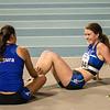 AVR Atletes Laura Huyghe & Jolien Musseeuw - 800 M dames beloften - Belgisch Kampioenschap Indoor Atletiek - BLOSO Topsporthal - Gent