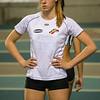 Lotte Scheldeman kort voor de start - 800 M dames juniors - Belgisch Kampioenschap Indoor Atletiek - BLOSO Topsporthal - Gent