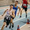 Mathias Sanctorum, Asamti Badji & Simon De Lange - 400 M - Belgisch Kampioenschap Indoor Atletiek - BLOSO Topsporthal - Gent