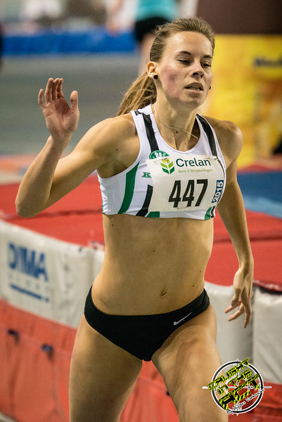 Belgische titel voor Renée Eykens - 800 M dames juniors - Belgisch Kampioenschap Indoor Atletiek - BLOSO Topsporthal - Gent