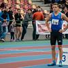 Pierre-Antoine Balhan aan de start van de 800 M voor beloften