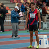 Quentin Kebron aan de start van de 800 M bij de beloftent