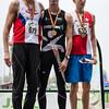 800 M junioren met winst voor Aurèle Vandeputte, zilver voor Alexandre Scrève en brons voor Antoine Douley