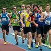 800 M voor Beloften of het Belgischa Kampioenscha 2014: posities na bijna één ronde