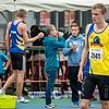 Martijn Baete  aan de start van de 800 M in het Belgisch Kampioenschap voor Beloften