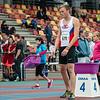 Alexandre Scrève aan de start van de 800 M voor junioren