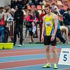 Jonas Van Schoubroeck aan de start van de 800 M in het Belgisch Kampioenschap voor Beloften