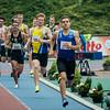 800 M voor Beloften op het Belgischa Kampioenscha 2014, posities net voor de aankomst