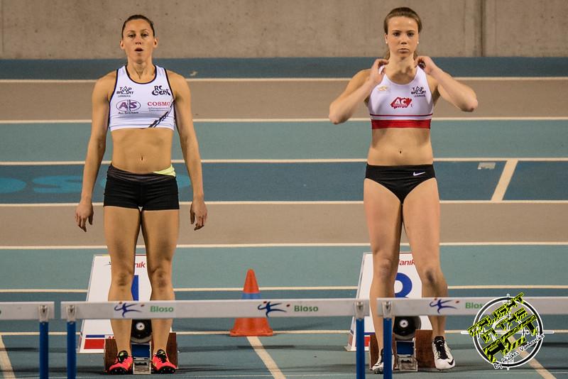 Eline Berings & Chloë Beaucarne - Reeksen 60 M Horden - Belgisch Kampioenschap Indoor Alle Categorieën - BLOSO Topsporthal - De Blaarmeersen - Gent