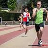 Tom Du Pan (Hermes Oostende) wint de eerste reeks 400 M @ Belgisch Kampioenschap Atletiek voor studenten - Stade La Mosane - Jambes - Namen