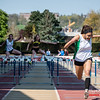 Sarah Loris wint de eerste reeks 100 M horden voor dames @ Belgisch Kampioenschap Atletiek voor studenten - Stade La Mosane - Jambes - Namen