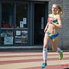 Doortocht Start 800 M Dames met Jenny Gloden (Celtic Luxemburg) op kop @ Belgisch Kampioenschap Atletiek voor studenten - Stade La Mosane - Jambes - Namen