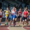 Start 800 M met uiterst rechts één de een baan voor zichzelf nodig heeft @ Belgisch Kampioenschap Atletiek voor studenten - Stade La Mosane - Jambes - Namen