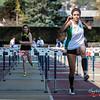Sarah Loris (CS Forest) wint de eerste reeks 100 M horden voor dames @ Belgisch Kampioenschap Atletiek voor studenten - Stade La Mosane - Jambes - Namen