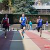 100 M met Clément Brunin van USBW op kop  @ Belgisch Kampioenschap Atletiek voor studenten - Stade La Mosane - Jambes - Namen
