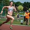 Elise Mehuys van AC Lyra in de reeksen 100 M.
