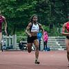 Nafi Thiam, Alison Diwani & Laura Leprince in de finale 100 M op het Belgisch Kampioenschap voor Studenten