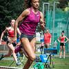 Nafi Thiam in de reeksen 100 M op het Belgisch Kampioenschap voor Studenten