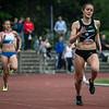 Charlotte Tahon in de laatste rechte lijn van de 400 M