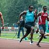 Jean-Marie Louis Jr. & Chamberry Muaka in de finale 100 M op het Belgisch Kampioenschap voor Studenten
