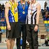 Podium 800 M: Jonas Van Schoubroeck, Pierre-Antoine Balhan & Yngwie Vanhoucke