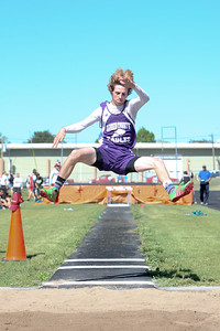 Garden County's Devon Sullivan boys long jump