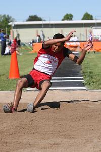 Minatare's Andres Mendoza boys long jump - winner 20-6