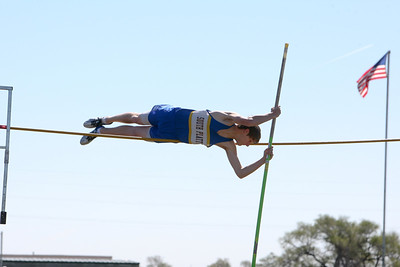 South Platte's John McClung in the boys pole vault