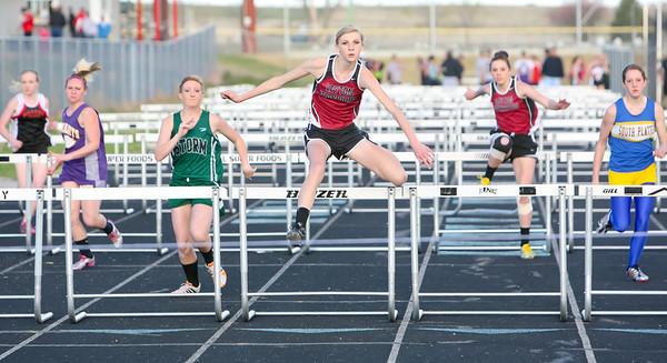 Leyton's Shaela Jenkins winsl 100 meter hurdles